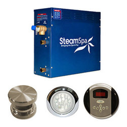 N/A - SteamSpa Indulgence 6kw Steam Generator Package in Brushed Nickel - With this advanced package you will get everything you need and more to begin experiencing a deep relaxing steam sauna right in your very home.