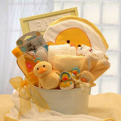 Gift Basket Drop Shipping - Bath Time Baby Gift tub Multicolor - 89091 - Shop for Baby Gifts from Hayneedle.com! Give mom and baby the gift of good clean fun with the Bath Time Baby Gift tub. Available in two sizes each basket boasts a round wash tub centerpiece and a variety of cute and cozy bath accessories including terry washcloths baby caps a brush and comb set and a hooded character towel. Johnson & Johnson products take out all the dirty work while plush and rubber duckies make for squeaky clean fun. Cotton t-shirts stand ready for the receiving and a baby-themed picture frame awaits (adorable) adornment. Clean has never been cuter.Medium Gift Basket IncludesBaby wash tub (8-inch round) Johnson & Johnson tearless baby shampoo 7 oz. Two 100% Cotton T-shirts Hooded baby bath towel (various designs not all are ducks) 2 Baby caps 4 Terry cloth washcloths 5x7 Baby picture frame (holds a 3x5 photo) 3 Rubber ducks (1 mama and 2 babies) Baby brush & comb set Plush 9-inch baby duckLarge Gift Basket IncludesBaby wash tub (12-inch round) Johnson & Johnson tearless baby shampoo 7 oz. 12-inch Mama duck and 3-inch baby duck Ultra-plush baby duck security blanket One 100% Cotton T-shirt Hooded baby bath towel (various designs not all are ducks) 2 Baby caps 4 Terry cloth washcloths 5x7 Baby picture frame (holds a 3x5 photo) 3 Rubber ducks (1 mama and 2 babies) Baby brush & comb set Johnson & Johnson baby lotion 9 oz. Johnson & Johnson baby wash 9 oz.Please note that for this item the following services are available during the checkout process:Multiple Ship-To which allows you to send gifts to several recipients with a single order.Future Delivery which lets you select a specific date for delivery so your gift arrives at the perfect time.About Gift Basket Drop ShippingGift Basket Drop Shipping has been helping customers send high-quality gift baskets for 16 years. Their reliability variety and careful attention to every detail have made them an industry leader. They currentl