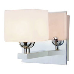 Transglobe 2691 PC Bath Bar - Polished Chrome - 5.125W in. - Add a chic, elegant accent to your bath with the Transglobe 2691 PC Bath Bar - Polished Chrome - 5.125W in.. This wall sconce features a cube-shaped, opal frosted glass shade and square metal backplate. The polished chrome finish adds depth and brightness. Ideal for modern and contemporary settings, it has a sleek, stylish look that's sure to brighten your space. This energy-saving light fixture uses a single 20-watt halogen G4 base bulb (not included).About Trans Globe Lighting, Inc.Born from the hopes and dreams of two entrepreneurial spirits in 1986, Trans Globe Lighting offers one of the most comprehensive and stylish collections of residential lighting in the world. This family-owned company based in North Hollywood, Calif., is marked by personal involvement, with a wide variety of products available at the lowest prices. From traditional to ultra-contemporary in style, Trans Globe has just the right light for you.