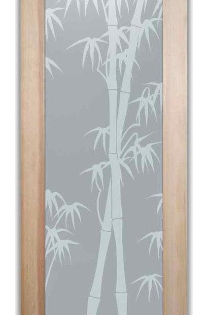 Asian Interior Doors by Sans Soucie Art Glass