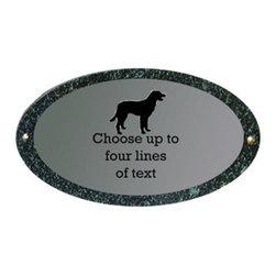 Qualarc, Inc. - Rockport (Oval), Solid Granite Pet Plaques Dog - Rockport (Oval), Solid Granite Pet Plaques Dog