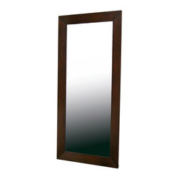 Baxton Studio - Baxton Studio Doniea Dark Brown Wood Frame Modern Mirror - Rectangle - Beautiful and classic, the Daffodil Mirror is the perfect finishing touch for your bedroom, hallway, or dressing area.  The frame is made of eco-friendly solid rubberwood with a rich dark brown veneer finish.  A matching square hanging mirror is also available (sold separately).  The mirror is fully assembled.
