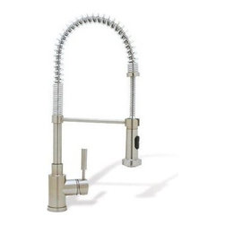 Blanco Meridian SemiProfessional One Handle Kitchen Faucet - This well priced 'restaurant' style or 'commercial' style faucet works very well and is really great in a kitchen that really cooks, if you know what I mean. Dirty tons of pots and pans? Think about this style faucet and a deep sink.