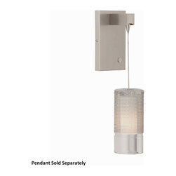 Tech Lighting - Siena Freejack Wall Canopy - With the Siena Freejack Wall Canopy, you can turn virtually any Tech Lighting low-voltage Freejack pendant into a wall sconce. The integrated telescoping arm accommodates any pendant up to 9 inch in diameter. An integrated two-way touch dimmer makes it perfect for home or hospitality use. Currently only compatible with halogen and xenon pendants, sold separately. Can mount to either a 4 inch square electrical box with round plaster ring or an octagonal electrical box (not included). Includes low-voltage electronic transformer. Dimensions: 4.3 inch width x 7.1 inch height x 5.6 inch depth.