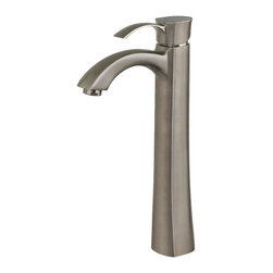 Vigo - Otis Brushed Nickel Vessel Faucet - The Otis Vessel Faucet in brushed nickel combines a stylish, yet unassuming design