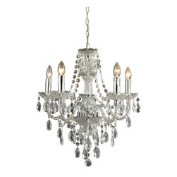 Sterling Industries - Sterling Industries 144-024 Cullard - 5 Light Pendant In Clear Finish - Pendant (1)