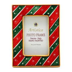 Artistica - Hand Made in Italy - Photo Frame: Deruta Christmas Holidays - Deruta Photo Frames: