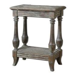 Uttermost - Uttermost 24295 Mardonio Distressed Side Table - Uttermost 24295 Mardonio Distressed Side Table