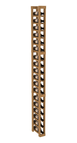 Wine Racks America - 1 Column Split Bottle Wine Cellar Kit in Pine, Oak Stain - Store smaller than average wine bottles with a specialized wine rack. Protect 18 wine bottles in less than 4 inches of wall space. This rack is engineered to the same specifications as our modular product line up, and designed to last. That's guaranteed.