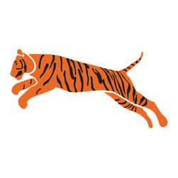 My Wonderful Walls - Tiger Stencil for Painting - - 2-piece tiger wall stencil for jungle theme wall mural
