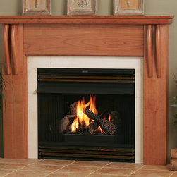 Santa Fe Wood Fireplace Mantel - With clean lines and rounded corners, the Santa Fe Wood mantel is a contemporary hearth for modern homes. Choose from four wood finishes and a number of stains to create your dream look today.
