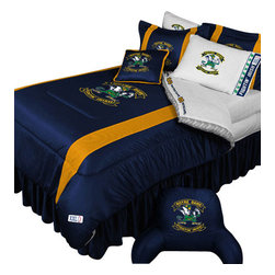 Store51 LLC - NCAA Notre Dame Fighting Irish Bedding College Football Bedding Set, Twin - Features: