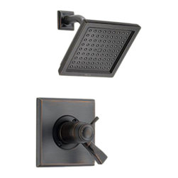 Delta - Delta T17T251-RB Dryden TempAssure 17T Series Shower Trim (Venetian Bronze) - The contemporary, elegant style and blocked design of the Dryden collection brings a soft, sophisticated look to your home.