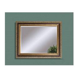 Bassett Mirror - Eleganza Antique Gold Leaf Wall Mirror - Eleganza Antique Gold Leaf Wall Mirror by Bassett Mirror