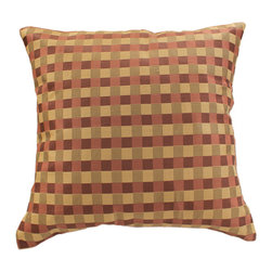 "Banarsi Designs - Modern Squares Pillow Cover, Set of 2, Choco Wine - The best way we can describe the decorative Banarsi ""Modern Squares Pillow Cover"" is simple, but certainly not understated! One of the greatest Ancient Greek Philosophers by the name of Plato once said: ""Beauty of style and harmony and grace and good rhythm depend on simplicity."""