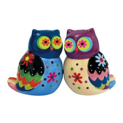 Westland - 2.75 Inch Colorful Cozy Owls with Flower Eyes Salt and Pepper Shakers - This gorgeous 2.75 Inch Colorful Cozy Owls with Flower Eyes Salt and Pepper Shakers has the finest details and highest quality you will find anywhere! 2.75 Inch Colorful Cozy Owls with Flower Eyes Salt and Pepper Shakers is truly remarkable.