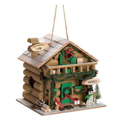 Gifts Galore - Holiday Mountain Lodge Birdhouse - Give the birds a holiday retreat where they'll be able to spend quality time with their family!