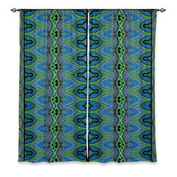 """DiaNoche Designs - Window Curtains Lined by Susie Kunzelman Blue Bonnet - DiaNoche Designs works with artists from around the world to print their stunning works to many unique home decor items.  Purchasing window curtains just got easier and better! Create a designer look to any of your living spaces with our decorative and unique """"Lined Window Curtains."""" Perfect for the living room, dining room or bedroom, these artistic curtains are an easy and inexpensive way to add color and style when decorating your home.  This is a woven poly material that filters outside light and creates a privacy barrier.  Each package includes two easy-to-hang, 3 inch diameter pole-pocket curtain panels.  The width listed is the total measurement of the two panels.  Curtain rod sold separately. Easy care, machine wash cold, tumble dry low, iron low if needed.  Printed in the USA."""