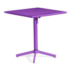 Zuo Modern - Zuo Modern 703041 Big Wave Folding Square Table Purple - Add color to any outdoor space with the Big Wave folding table. Made from 100% epoxy coated steel durable for any climate. Table folds up for ease of storage when not in use.