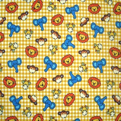 "SheetWorld - SheetWorld Fitted Pack N Play (Graco) Sheet - Safari Animals Yellow Check - This 100% cotton ""flannel"" pack n play (graco) sheet is made of the highest quality fabric that's double napped. That means these sheets are the softest and most durable. Sheets are made with deep pockets and are elasticized around the entire edge which prevents it from slipping off the mattress, thereby keeping your baby safe. These sheets are so durable that they will last all through your baby's growing years. We're called sheetworld because we produce the highest grade sheets on the market today. Features the cutest safari animals in a yellow check print. Size: 27 x 39. Not a Graco product. Sheet is sized to fit the Graco playard. Graco is a registered trademark of Graco."