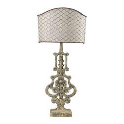 Dimond Lighting - Dimond Lighting 93-9141 Avignon Avignon White Table Lamp - Dimond Lighting 93-9141 Avignon Avignon White Table Lamp