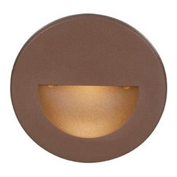 "WAC Lighting - WAC Lighting WL-LED300-C-BZ Bronze LEDme LED Circular Step Light from - WAC Lighting WL-LED300-C LEDme LED Circular Step LightEnhance both the safety and the beauty of your home or office with this advanced energy-efficient LED light featuring natural 3000K color temperature light emitted at 74 lumens. Couple this with a sleek, modern look and you have a light that is equally at home in any setting.The LEDme  Wash Light delivers a symmetrical wide-angle beam spread and excellent color rendering, perfect for illuminating walls or signage. This sophisticated luminaire is an energy efficient track solution that dims to one percent with an electronic low voltage dimmer and is compatible with most existing track installations. The LEDme  Wash Light s optimized thermal management system ensures a 50,000 rated for hassle free maintenance.WAC Lighting WL-LED300-C Features:Direct wiring, no driver neededLow profile, flush to wall with no visible hardwareConnect up to 200 fixtures in parallelUL Rated for Wet LocationFits into 2"" x 4"" J-Box with minimum inside dimensions of 3"" x 2"" x 2""Replaceable LED ModuleLow Voltage Dimmable40,000 Hour Rated LifeColor Temperature: 3000KLumens: 74UL Listed for Wet LocationWAC Lighting WL-LED300-C Specifications:Width: 3.5""Length: 3.5""Diameter: 3.5""Voltage: 120Maximum Wattage: 3.9Die-Cast Aluminum ConstructionCelebrating their 25th anniversary in 2009, WAC Lighting has developed a stellar reputation for high quality decorative and task lighting lines backed by an extraordinary level of service and an extension of their Product Warranty to Five Years. Sustainable CFL and LED lighting products have been added to their extensive line with the most energy efficient technology available. To reflect their Green energy saving strategies, social progress and community involvement, WAC Lighting has recently cha"