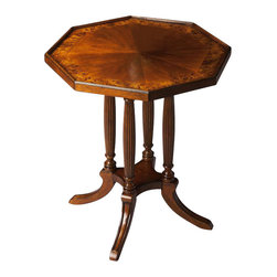 Butler - Octagon Accent Table in Olive Ash Burl - This distinctive table is the perfect complement to today's traditional home