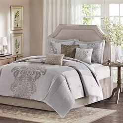 Madison Park Novak Conrad 7 Piece Jacquard Comforter Set