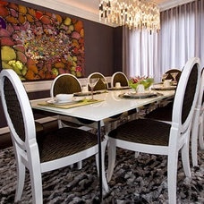 Eclectic Dining Room by Contour Interior Design, LLC