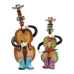 ATD - 6.25 Inch Country Cowboy Fiddler and Bass Salt and Pepper Shakers - This gorgeous 6.25 Inch Country Cowboy Fiddler and Bass Salt and Pepper Shakers has the finest details and highest quality you will find anywhere! 6.25 Inch Country Cowboy Fiddler and Bass Salt and Pepper Shakers is truly remarkable.