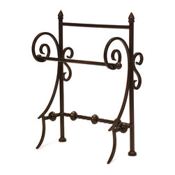 iMax - Iron Towel Holder - This iron holder is a fancy way to display your paper or hand towels in the kitchen or bath.