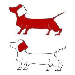 Jane CoCo Cowles - Red Dachshund - Digital illustration on ultrafoam board