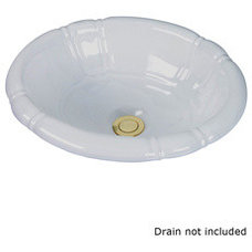 Shop Barclay Sienna White Topmount Oval Bathroom Sink with Overflow at Lowes.com