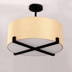 PHX Northic Flax Shade Iron Recessed Lighting -