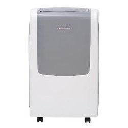 Frigidaire A/C - 9,000 BTU Portable A/C - Frigidaire's FRA093PT1 9,000 BTU 115V Portable Air Conditioner is perfect for rooms up to 425 square feet. It quickly cools the room on hot days and quiet operation keeps you cool without keeping you awake. Ready-select electronic controls allow you to easily select options with the touch of a button. The full-function remote control allows you to precisely control the temperature and fan speed from across the room. The multi-speed fan features three different fan speeds for more cooling flexibility and the swing air direction control automatically directs the air. The antimicrobial filter with clean filter alert cleans the air removing harmful bacteria. The SpaceWise portable design includes integrated side handles and caster wheels making it easy to move your unit from room to room.9,000 BTU portable air conditioner uses standard 115V electrical outlet|Quickly cools a room up to 425 sq. ft.|Dehumidification up to 1.2 pints per hour|Ready-select electronic controls allow you to easily select options with the touch of a button|Full-function remote control allows you to precisely control the temperature and fan speed from across the room|Low power start-up conserves energy and saves you money|Quiet operation keeps you cool without keeping you awake|Effortless temperature control maintains preset room temperature so you will remain at your comfort level|Effortless restart automatically resumes operating at its previous settings when power is restored|Swing air direction control automatically directs the air|  frigidaire| fra093pt1| fra093| 9|000| 9000| btu| 115v| 115-volt| 115-volts| 115| v| volt| volts| portable| air| conditioner| ac| a/c  Package Contents: portable air conditioner|remote control|2 AAA batteries|exhaust hose|window sliding kit|manual|warranty  This item cannot be shipped to APO/FPO addresses