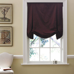 "Tulip Roman Shade - as shown: tulip roman shade | cotton | white | 30"" x 54"" 