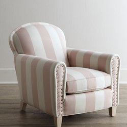 "Lee Industries ""Cottage Peppermint"" Chair"