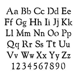 Stencil Ease - Rustic Alphabet Stencil - Rustic Alphabet Stencils - includes uppercase and lowercase A-Z and numbers. Comes with 62 individual sheets of durable reusable plastic.