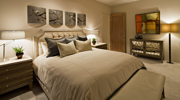 Eclectic Bedroom by Schwab Luxury Homes and Interiors