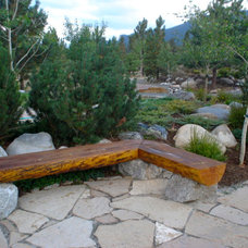 Eclectic Patio by Bearss Landscaping Inc.