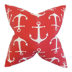 """The Pillow Collection - Gish Coastal Pillow 18"""" x 18"""" - Introduce a nautical flair to your living space with this bold accent pillow."""