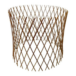"Master Garden Products - Peeled Willow Circular Lattice Fence, Expandable to 30""H x 60""D, Light Mohagony - Our carbonized barkless willow circular flex fence panel can be used as a screen or to protect your yard area. It forms a circle up to 60"" in diameter when the fence is stretched to 30"" high. Each one of these versatile, lightweight, circular fences stretches from 1 to 4 in height depending on how long it would expand (the fence becomes shorter as its stretched longer). Willow sticks are light mahogany color, they are smooth and skinless, carbonized to resist outdoor elements, and aged to a grey color. Use them for protecting your favorite flowers and plants and the diamond pattern lattice will enhance the look your garden."