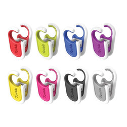 Tovolo Ladle Clips Assorted Colors - The Tovolo Ladle Clip keeps almost any tool within reach without creating a mess on your stovetop or in a spoon rest. Heat resistant silicone and internal spring create a firm grip on almost any pot or pan!  Product Features      Heat resistant silicone won't scratch your cookware   Extra-large hook securely holds most tools   Flexible clip expands to fit almost any vessel