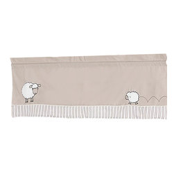 Sweet Jojo Designs - Little Lamb Window Valance by Sweet Jojo Designs - The Little Lamb Window Valance by Sweet Jojo Designs, along with the  bedding accessories.