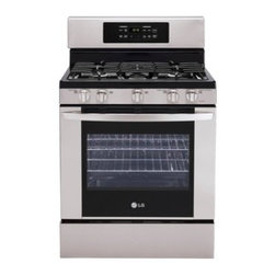 LG 30-in 5-Burner Freestanding 5.4 cu ft Self-Cleaning Gas Range (Stainless - 5.4 cu.ft. large capacity - gives you more space so you have the flexibility to cook more dishes at 1 time