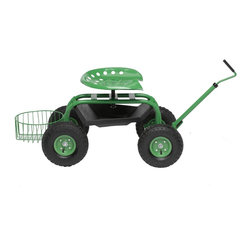 Gardener's Supply Company - Garden Scooter, Green - Tractor Scoot lets you enjoy gardening without straining your back or legs. The super convenient, back-saving maneuverable Tractor Scoot is New & Improved thanks to customer feedback! A customer favorite that lets you work from a seated position virtually anywhere in your garden. More comfortable and easier to use than ever before.
