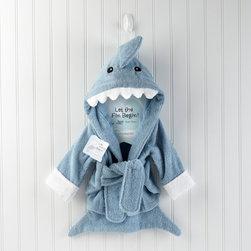 Baby Aspen - Let the Fin Begin Terry Shark Robe - Let the Fin Begin Terry Shark Robe