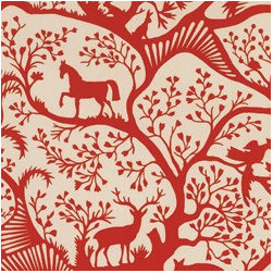 Antiquity Horse and Elk Print Fabric - Pretty fabric is the easiest way to spice up your home. You can make some great pillows or why not frame it and hang it on the wall as art?