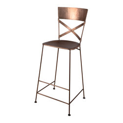 Jabalpur Bar Stool Antique Copper - Product Features:
