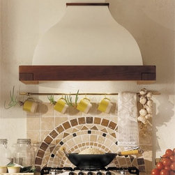 """36"""" Connecticut - Island Range Hood - Classic style, solid wood frame (3 different styles), and pure white body paint. Frame is unstained, body is paintable - customize to match your personal taste & kitchen style. Made in Italy. Visit website for complete specs, latest pricing, and more photos!"""